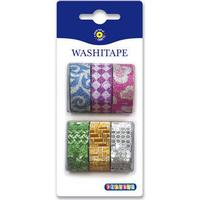 Washi tejp Glitter 6-pack