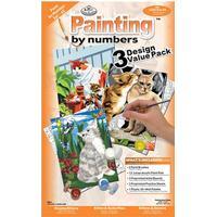 Royal & LangnickelMåla efter siffror Junior 3-pack Katter