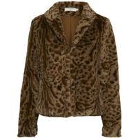 Cream Char Fur Jacket Pitch Black
