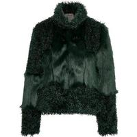 Cream Cassie Fur Jacket - Fall Green