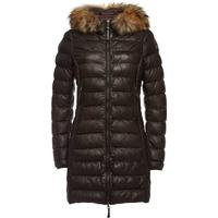 Parajumpers Demi Leather Parka with Fur-Trimmed Hood