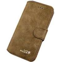 Golden Phoenix (Grøn) iPhone 6 Plus Læder Flip Etui
