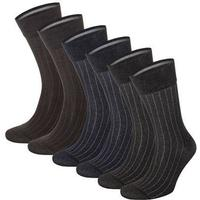 Topeco - 6-pack Mens Mercerized Cotton Multi Pack Socks Multi-colour
