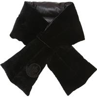 VELOUR & NYLON DOWN SCARF