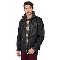 Mantaray Big and tall black pilot jacket