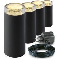 Garden Lights udendørs LED-stolpelys Linum 4 stk. plastik 2519064