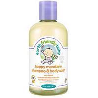 Earth Friendly baby Shampoo and Bodywash 250ml - Happy Mandarin
