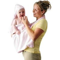 Clevamama Extra Large Hooded Baby Towel and Apron Wrap - Pink