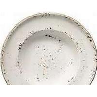 MULTI Tallerken Dyb Bonna Grain Ø27cm Porcelæn Hvid med brun stænk,6 stk/pk
