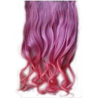 22 Inch Synthetic Clip In Dip Dye Ombre Weave