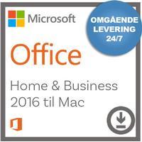Microsoft Office - Home and Business 2016 til Mac - Nemsoftware - Modtag produktnøgle med det samme!