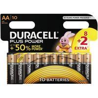 Duracell8+2-Pack Plus Power AA-batterier