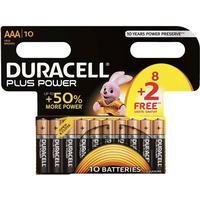 Duracell8+2-Pack Plus Power AAA-batterier