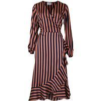 Neo Noir - Orange burnt - Riva Broad Stripe Dress - Large