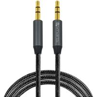 4smarts 3,5mm Stereo audio cableSoundCord 1m, Textil black