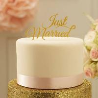"Topkagefigur guld ""Just Married"""