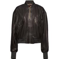 Tilde Thin Bomber Jacket (Black) Sort