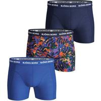 Björn Borg Winter Leaf Essential Shorts 3-pack Surf The Web - Blue