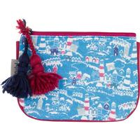 Mistral printed canvas make up bag with spot lining and co Colour: ECR