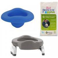 Bundling Potette Plus Grå/ Vit+Blå