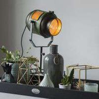 Bordslampa 'Byron' Retro grön/metall - Passande för LED / Inomhus