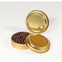 Guld dåser til 80 gram caviar 12 stk