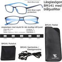 Läsglasögon 1.0 3.5 1.5 2.0 2.5 3.0 med blåljusfilter bm141 kit
