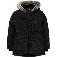 Firetrap Quilted Parka Jacket Junior Girls