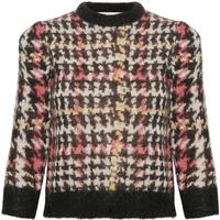 GESTUZ MERRAL PULLOVER (Red/Black Check 90325, XS)