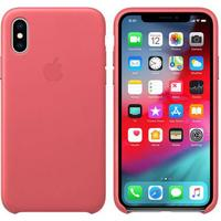 Original Apple iPhone X / XS Leather Cover Case Peony Pink (MTEU2ZM/A)