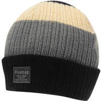 Firetrap Chunky Hat Mens Black/Charcoal