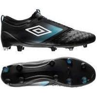 Umbro UX Accuro II Pro FG - Sort/Hvid/Blå Fodboldstøvler tilbud / udsalg