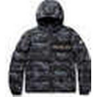 Moncler Aiton Camouflage-print Quilted Shell Hooded Down Jacket - Charcoal