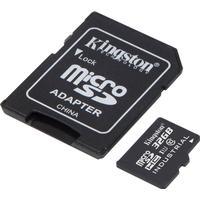 Kingston 32GB microSDHC UHS-I Class 10 Industrial Temp Card + SD Adapt