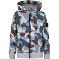 Stone Island Junior Boys Reversible Hooded Sweatshirt - Camo (538104-0003)
