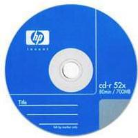 HP SALG! HP CDR 52X 700MB 80min, 10 stk