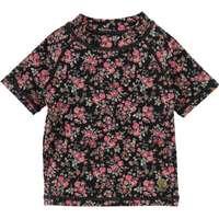 511b8617903 Wheat Bade T-shirt - Jackie - UV50+ - Midnight Blue m. Blomster -