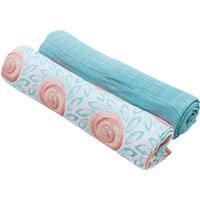 Bebe Au Lait Oh So Soft Muslin Swaddle Blanket Set - Fresco & Lagoon