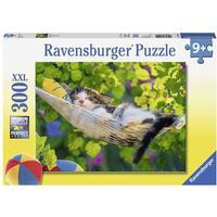 Ravensburger Pussel En katt i sovmattan 300 bitar XXL