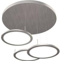 Naber Plate 3R LED / Pendelleuchte / Edelstahlfarbig / A++ / 3x14,3 W / Warm - Kaltweiß