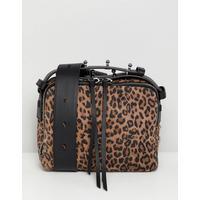AllSaints Vincent crossbody bag in leopard