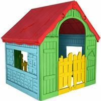 KETER FOLDABLE PLAY House Spielhaus gelb/rot/blau, 17202656