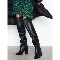 New Look Slouch Thigh Length Heeled Boots Thigh-high Black