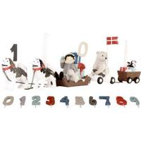 Kids by Friis Birthdog Dog sled with 11 Numbers & 2 Flags