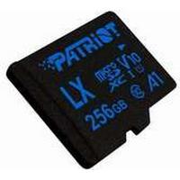 Patriot Memory LX, 256 GB, MiniSDHC, Klasse 10, 90 MB/s, Sort