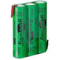 3x AAA batteri m/loddeflig NiMH (800mAh) Tecxus