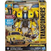 "Hasbro Transformers Bumblebee Movie Power Charge Bumblebee Action Figure 10.5"""