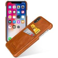 Tetded Leather Case iPhone XS Vintage: Brown
