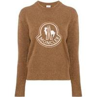 lace embellished logo jumper