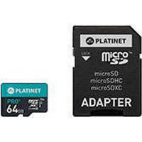 HQ Micro SD kort 64GB (70Mbps) Class 10 UI - Platinet Pro